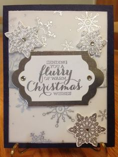 Flurry of Wishes Stamp Set; Snow Flurry Stampin' Up Punch; 2015 Stampin' Up Holiday Catalog; www.jansstampingcreations.com