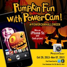 Pumpkin Fun with PowerCam: Win an iPhone 5s or Your Share of $200 Cash! Ends 11.7.13