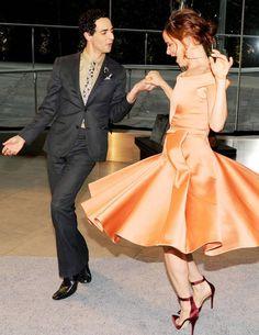 Zac Posen and Juliette Lewis in Zac Posen.