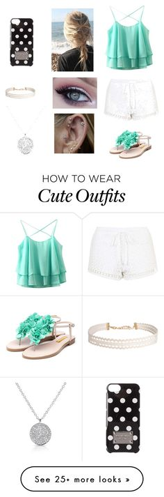 """Cute summer outfit"" by hannah-aylward on Polyvore featuring Topshop, Rupert Sanderson, MICHAEL Michael Kors, Humble Chic, summerdate and rooftopbar"