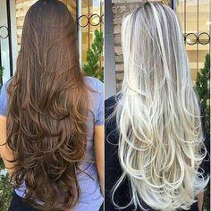 New Hair Layered Long 2018 64 Ideas Haircuts For Long Hair With Layers, Long Layered Haircuts, Long Hair Cuts, Layered Long Hair, Beautiful Long Hair, Gorgeous Hair, Silky Hair, Pretty Hairstyles, Wedding Hairstyles