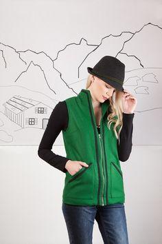 Lodenweste von Bergluft auf DaWanda.com Mantel, Hooded Jacket, Athletic, Zip, Fashion, Vest, Jackets, Hooded Bomber Jacket, Jacket With Hoodie