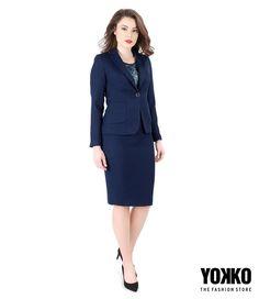 OFFICE OUTFIT In zile importante la birou, alege cu atentie tinuta. Accesorizeaza discret, respecta dresscode-ul, poarta o culoare care transmite profunzime si poarta totul cu stil personal. #work #bussines #officeoutfit #navyblue #skirt #jacket #blue #yokko