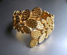 TORTOLANI Prickly Cactus Cuff Bracelet Hinged by RenaissanceFair