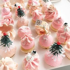 Pink Snow Cupcakes by nectar & stone
