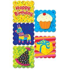 Estas pegatinas son ideales para decorar los regalos de cumpleaños, la elaboración de artesanías, el sellado de una tarjeta de cumpleaños, para poner en bolsas de regalo, celebrar las fiestas en clase, o ¡sólo por diversión!