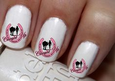 50 pc Pink Horse Shoe Cowgirl Up Cowgirl N Horse Nail Decals Nail Art Nail Stickers Best Price NC1116