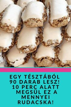 Sweets Cake, Cookie Desserts, Hungarian Desserts, Cake Recipes, Dessert Recipes, Tasty, Yummy Food, Happy Foods, Kaja