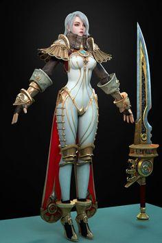 ArtStation - f, Changsoon Park Zbrush Character, Character Modeling, Game Character, Character Concept, Concept Art, Fantasy Characters, Female Characters, Larp, Female Armor