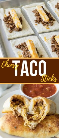 Cheesy Taco Sticks Cheesy Taco Sticks,College Recipes, Meals, Dorm Snacks So fun and easy to make! My kids love this simple recipe. Cheesy Taco Sticks– a fun Sunday lunch or dinner idea the whole. Think Food, Love Food, New Food, Le Diner, Comfort Food, Good Healthy Recipes, Easy Recipes For Kids, Kid Recipes Dinner, Easy Kids Meals