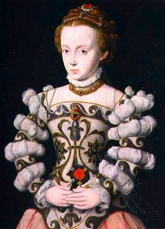 Corneille de Lyon (1500-1575) —  Portrait of a Girl Holding a Rose (574x800)