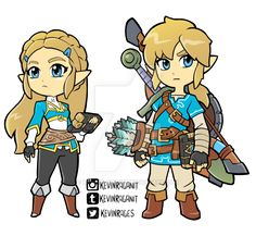 Zelda and Link Breath of the Wild by KevinRaganit.deviantart.com on @DeviantArt
