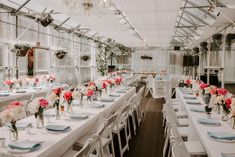 Beautiful wedding in a greenhouse setting complete with DIY centerpieces.