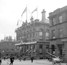 Town Hall, Ramsden Street, Huddersfield, 1911 Huddersfield Yorkshire, Huddersfield Town, New Mills, West Yorkshire, Local History, Town Hall, Ancestry, Old Photos, Past