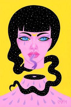 """Best Trippy Art on Twitter: """"illustrations by Madelen Foss http://t.co/ZqUNjJEqz0"""""""