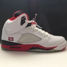 best website 5f5ff 8348f DS Nike Air Jordan 5 V Fire Red Black Tongue Size 13