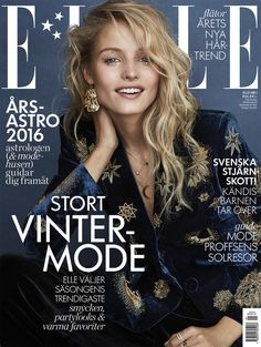 #ELLE #Sweden January 2016 – Tove Agren by Jimmy Backius V Magazine, Fashion Magazine Cover, Fashion Cover, Magazine Covers, Magazine Shop, Lund, Editorial Hair, Editorial Fashion, Marie Claire