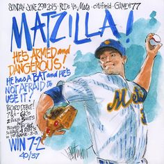 Mets Matzilla art by Joe Petruccio