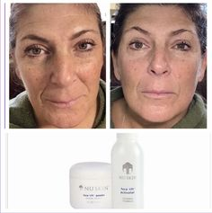 Done in 20 minutes. Instantly lifts and tightens less firm areas of the face and neck. Facelift In A Bottle, Anti Aging, Workout, Beauty Secrets, Allergies, Your Skin, Fragrance, Knowledge, Face Products