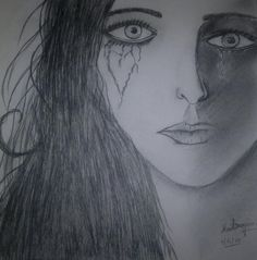 last cry... - Sketching by Maitreyee Das at touchtalent 20663