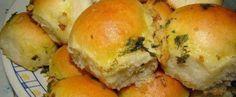 Receita de Pãozinho de Cebola com Cobertura de Alho