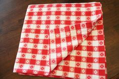 Red And White Gingham Tablecloth Square by losttreasures2u on Etsy, $28.99