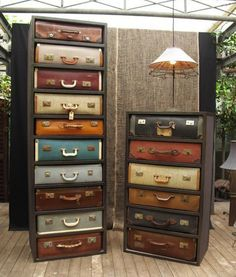 Luggage DIY Projects - Dresser {love this idea!}