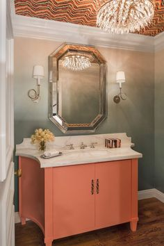 Could these color trends be the new millennial pink? These colors are becoming popular for 2019 whether that be for walls, accents or furniture. We have seen these colors and color palettes in living rooms, bathrooms, bedrooms, kitchens and entryways. Bathroom Colors, Bathroom Sets, Small Bathroom, Modern Bathrooms, Master Bathroom, Cottage Style Bathrooms, Painted Vanity, Painted Walls, Bathroom Trends