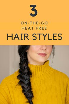 Heat Free Hairstyles Care Skin Condition and Treatment Oil Makeup Heat Free Hairstyles, Easy Hairstyles, Hairstyle Ideas, Hair Ideas, Wedding Hairstyles, Natural Hair Tips, Natural Hair Styles, Natural Beauty, Stylish Hair