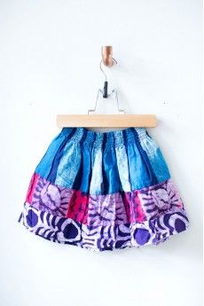 """Batik Girl's Skirt """"Where style meets need"""", 107 Market Street exists to connect customers with vetted artisans, provide platforms for marketing original, high-end, hand-made items, and partner with organizations training artists with marketable skills."""