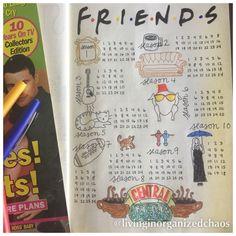 Friends bullet journal tracker
