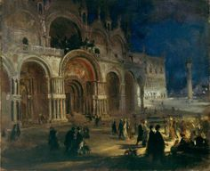 Mackie, Charles, (1862-1920), St Marks By Moonlight, Venice, 1912