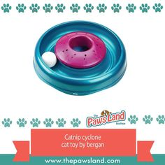 #checkitout  Keep your curious kitty entertained for hours with the aroma of catnip and all the fun of chasing a ball with the Cyclone Cat Toy by Bergan. Catnip goes in center. Ball spins around the outer ring. Easy to clean. Why We Love It:  The Catnip Cyclone Cat Toy will have your cat in heaven getting to play with a ball and setting free burst of catnip scented bursts. The Catnip Cyclone exercise ball generates air currents to stimulate the euphoric aroma from catnip inserted into the…