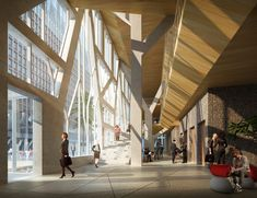 Gallery of Finalists Announced for Redesign of Norwegian Government Headquarters After 2011 Attacks - 11 Oslo City Centre, Atrium Design, Engineering Firms, Glass Facades, Space Interiors, Design Competitions, Scandinavian Design, Interior Architecture, Street View