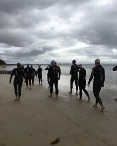 Great Bike-Swim Combo Session this morning down the @3228_surf_coast with Enduranceteam Coaches @jontykenny and @roscoyy.  A great session with plenty of strength work covered.  Athletes looking great in some of our @aquamanaus gear as well.  We do Ocean and Surf Sessions every week in Geelong and on the Surf Coast.  If you want to get along drop us a line #triathlon #triathlontraining #geelong #surfcoast #torquay #anglesea #bellsbeach #swim #bike  #combo #brick #session #specific #aquaman…