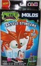 Creepy Crawlers Mold Pack - Stingers by Jakks. $10.07. From the Manufacturer                For even more ways to play, the Creepy Crawlers Bug Molds assortment allows kids to make even more types of monsters. Just insert the new Stinger mold into the Creepy Crawlers Bug Maker unit and create a whole new army of scary little monsters.                                    Product Description                This 11 piece Creepy Crawler Battle Stingers Mold set comes with 3...