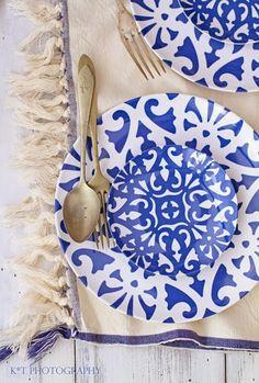 Perfeita Ordem: Azul e branco