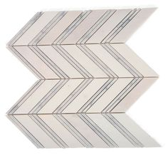 Monarch White Thassos With White Carrera Strips Marble Tile $18.50. This is it... Character but not over the top.