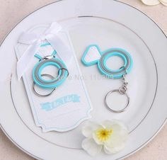 New Arrival  20PCS/LOT Engagement Ring Keychain wedding party gift favor $36.00