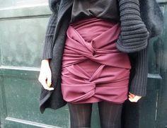 Burberry draped skirt