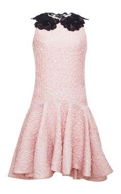 Lace-Appliqued Cloque Mini Dress by Giambattista Valli - Moda Operandi