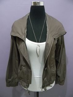 Auth L'uccello Hooded Jacket for Medium - Brown Made in Italy super nice!