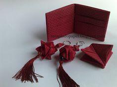 Origami em tecido - carteira / receita para engomar