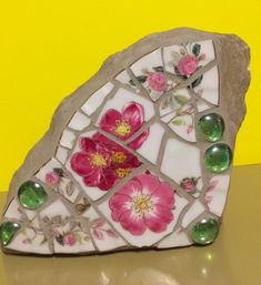Mosaic Rocks, Garden Deco, Pickle, Colored Glass, Stained Glass, Glass Art, China, Dishes, Colour