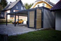 durchgang zwischen haus und garage zum eingang carport pinterest garage bien zenker und. Black Bedroom Furniture Sets. Home Design Ideas