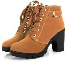High Heel Women's Boot with Soft Leather Platform Comfortable Vintage Women Motorcycle Boots (Free Shipping)