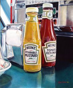 Artodyssey: Alvin amazing painting of glass and reflections Realistic Oil Painting, Acrylic Painting Tips, Food Painting, Colored Pencil Artwork, American Diner, Cool Landscapes, Landscape Paintings, Still Life Art, Planner