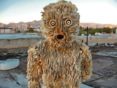 Fantastic newspaper sculptures from an artist in Tucson.