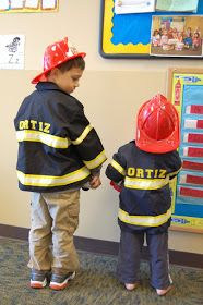 How to make a firefighter costume by tidybrownwren.blogspot.com