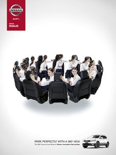 Print ad: Nissan Dualis: Park Perfectly
